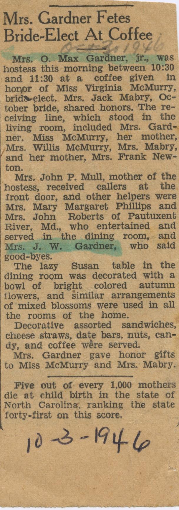 Mrs Gardner Coffee