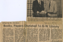 Books Papers Donate GW Library