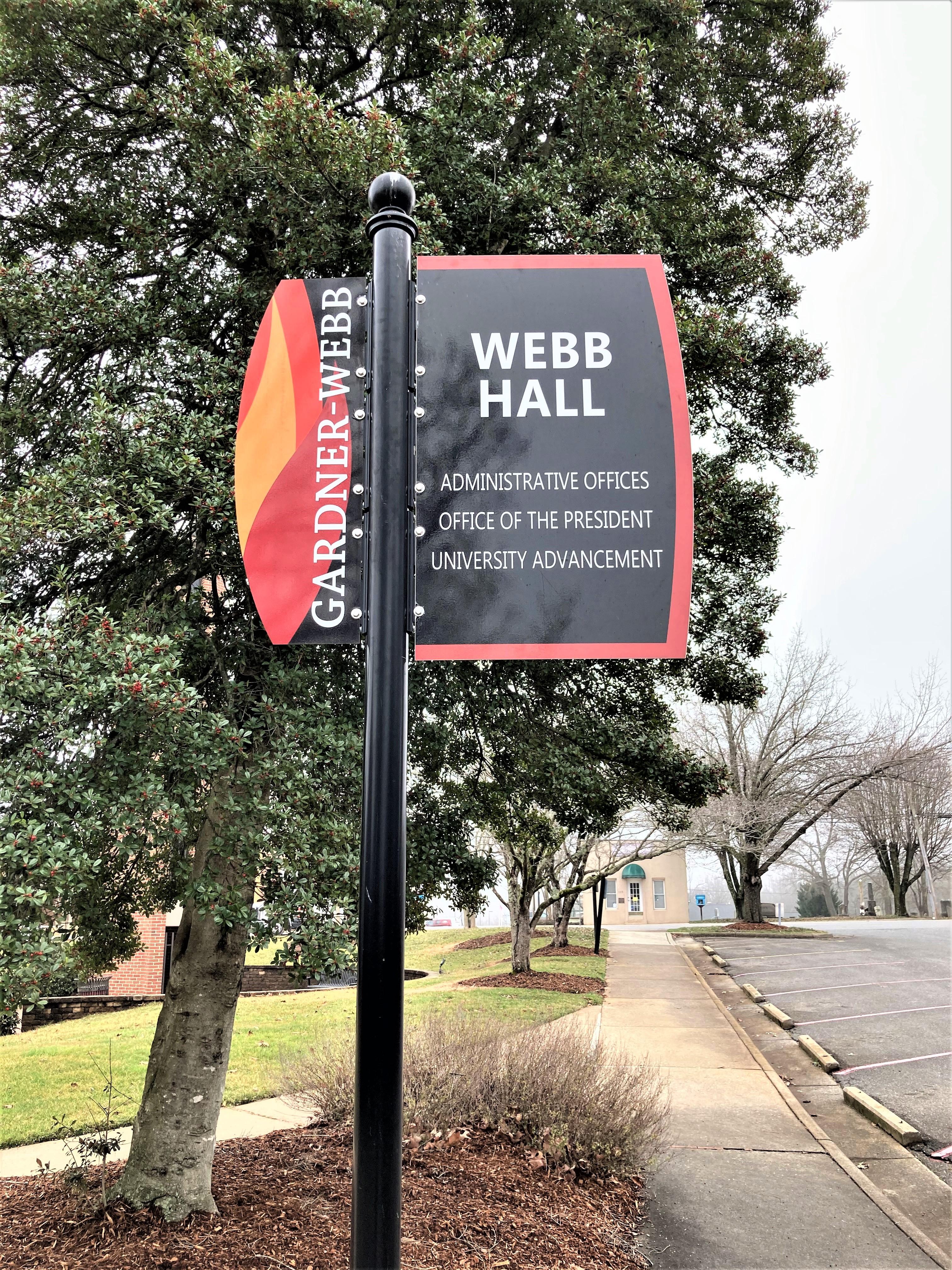 Webb Hall Sign